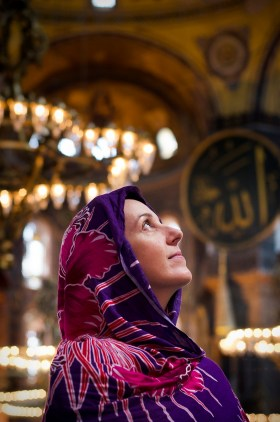 My darling wife, Carrie, at the Hagia Sofia in Istanbul