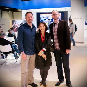 With Dahee and Jeff Hutchens at Photokina, where we met
