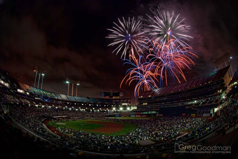 Each of these firework photographs were made using a 10 second exposure and a fisheye lens