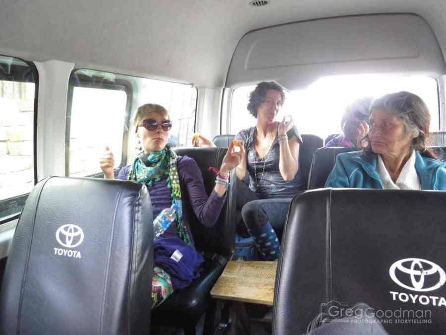 Our microbus from Chachapoyas to Kuelap, Peru