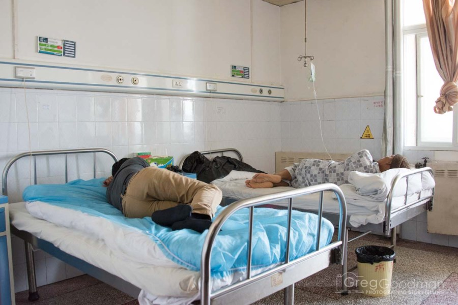 Families usually stay with the patient at all times – sleeping on any empty beds, a chair or the floor.