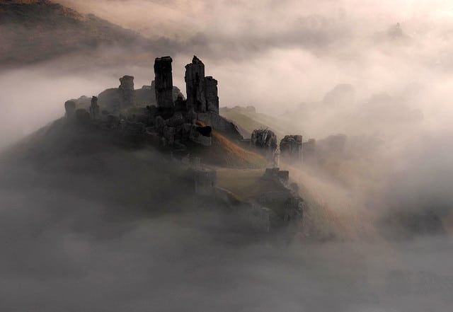 Corfe Castle in Dorset (Photography by David Bunting