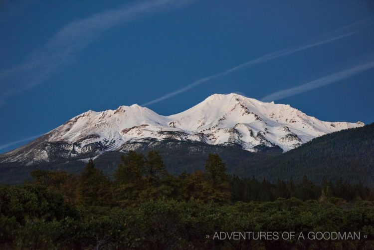 A view of Mount Shasta, California