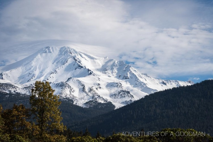 A view of Mt. Shasta from a lookout point on Highway 5 in Northern California