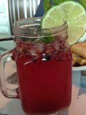 Mixed berry mojito (virgin of course)