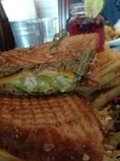 Avo and egg sandwich
