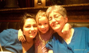 Me, Caris, and my Mom 😃