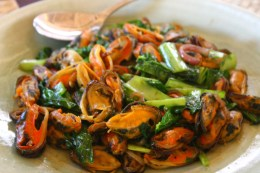 Sautee'd mussels