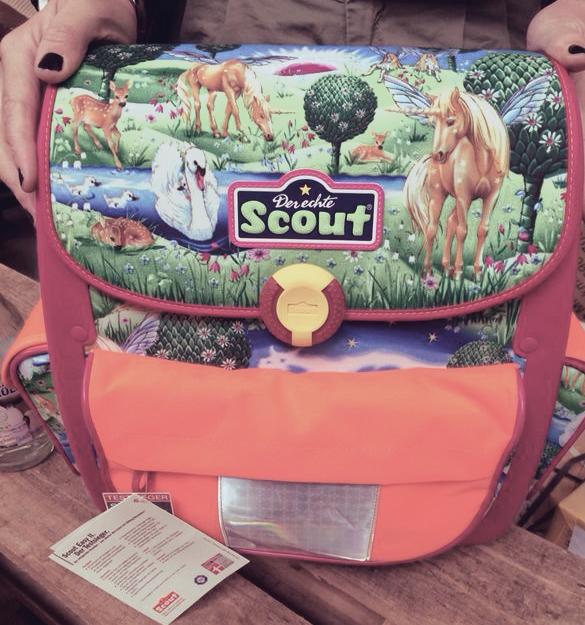 einhorn büchertasche scout