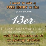Enter to win a Skirt Sports 13er Virtual Race Entry with The Adventures of an Average Athlete