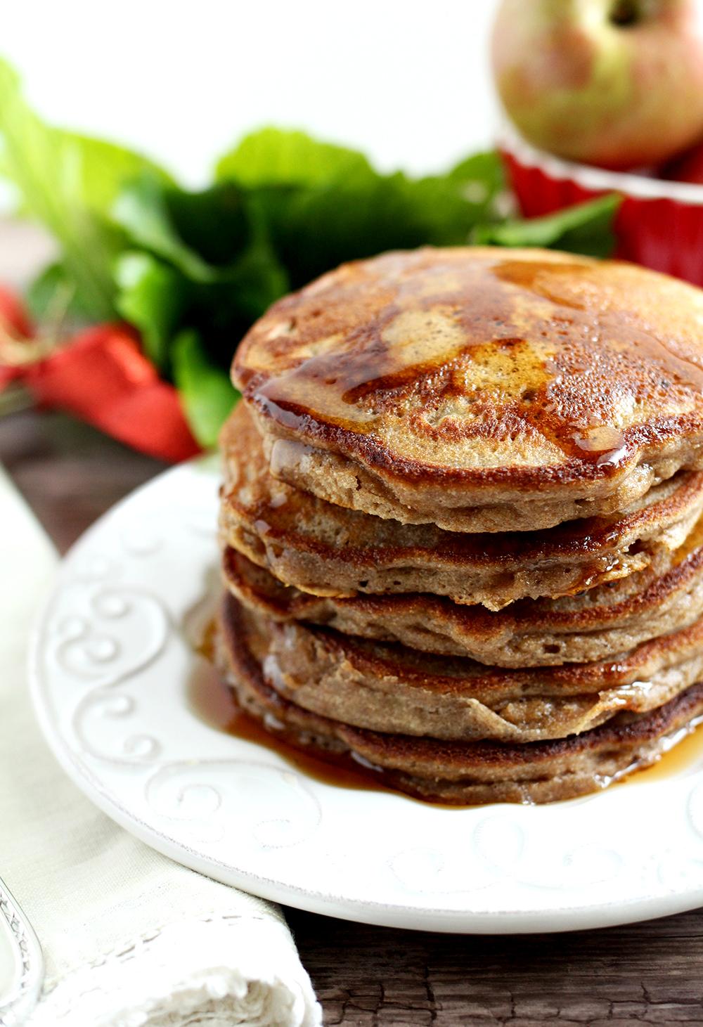 Paleo Cinnamon Apple Pancakes (made with cassava flour: gluten-free, grain-free, nut-free, dairy-free, and refined sugar-free)