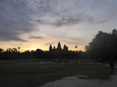 Our first proper glimpse of Angkor Wat