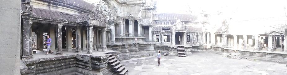 Courtyard at the top of Angkor Wat