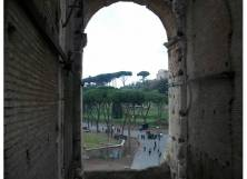 Inside the Colosseum, looking out