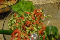 Israeli salad - cucumbers and tomatoes in vinegar