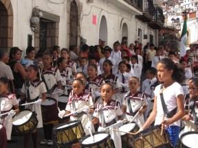 Flag Day celebration, Taxco de Alarcon, Mexico