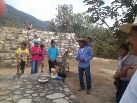 Temple mount and sacrificial block, Tehuacalco archeological site, Mexico