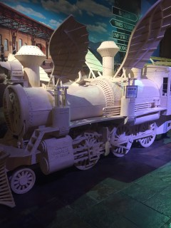 Train made out of matches