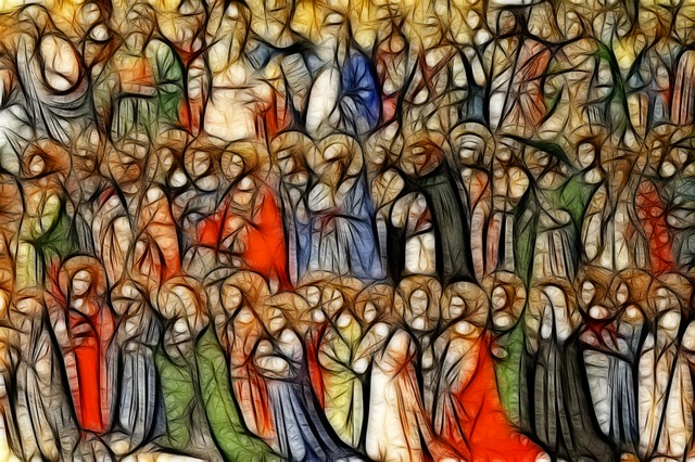 All Saints standing together