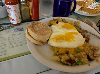 Park Cafe--that hash was darned near perfect