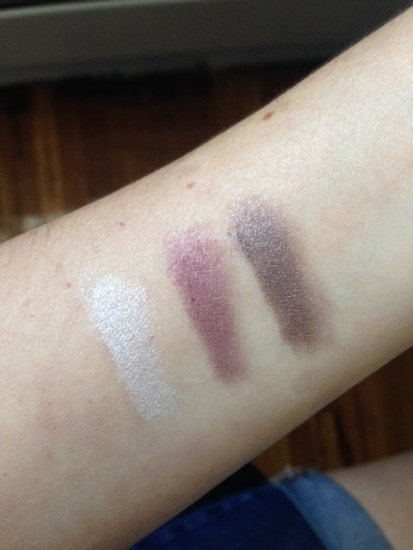 POP Portfolio Eyeshadow Sugar Plum swatches - Birchbox