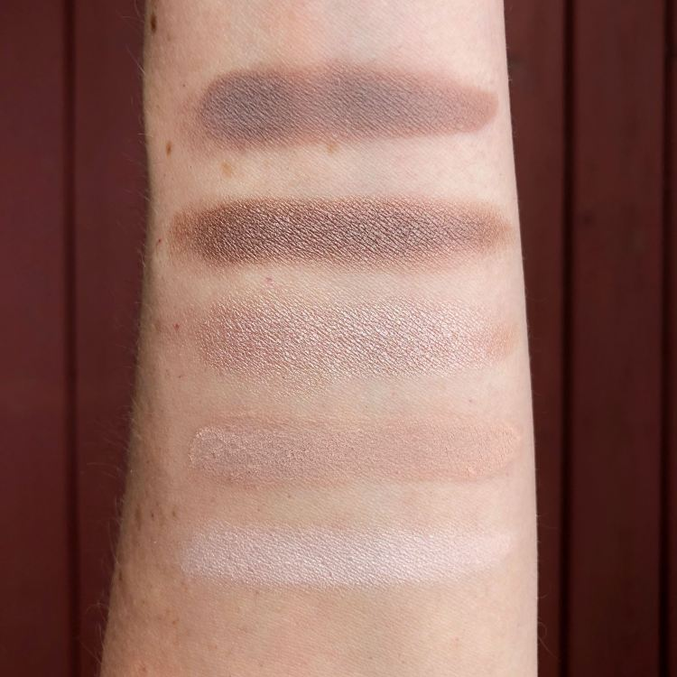 Flower Beauty Shimmer & Shade Eyeshadow Palette in Cool Natural - swatches