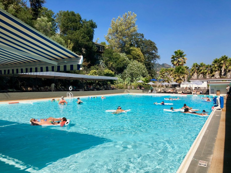 Olympic-sized mineral pool at Indian Springs Calistoga | Napa Valley
