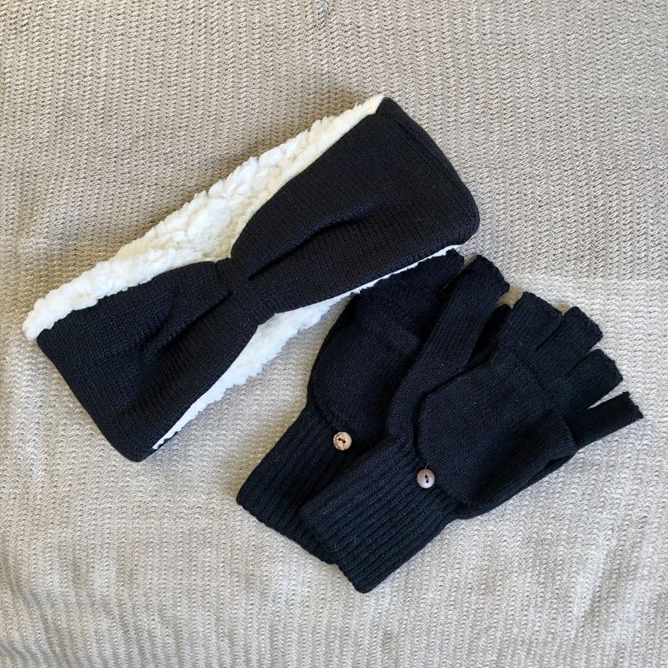 Bearpaw Headband and Pop-Top Glove Duo | FabFitFun