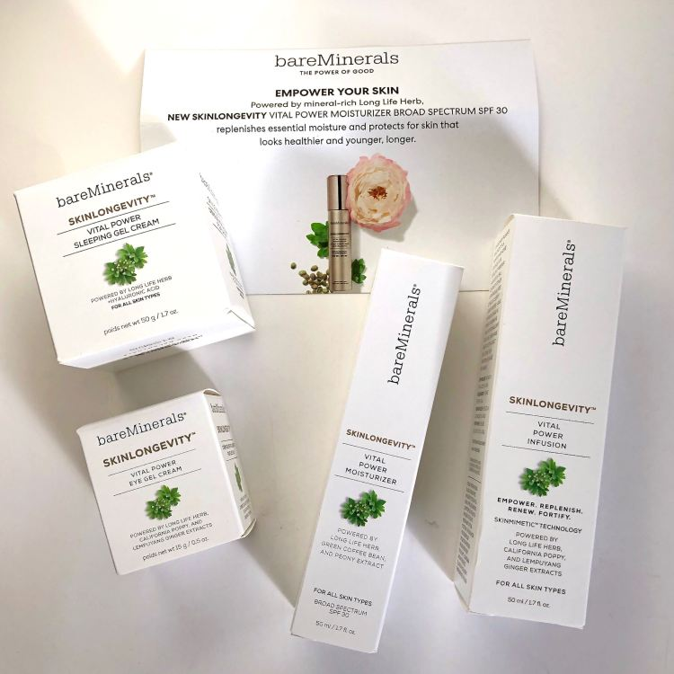 bareMinerals gifted me four Skinlongevity products!