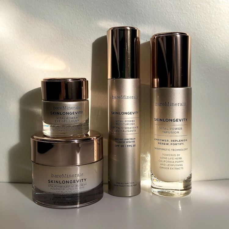 Skinlongevity collection by bareMinerals