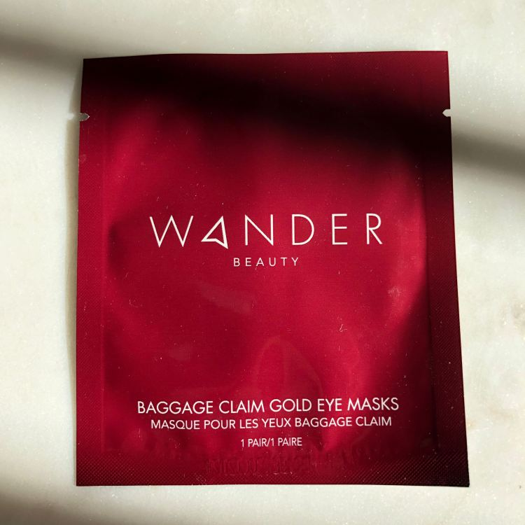 Wander Beauty Baggage Claim Gold Eye Masks | Play! by Sephora