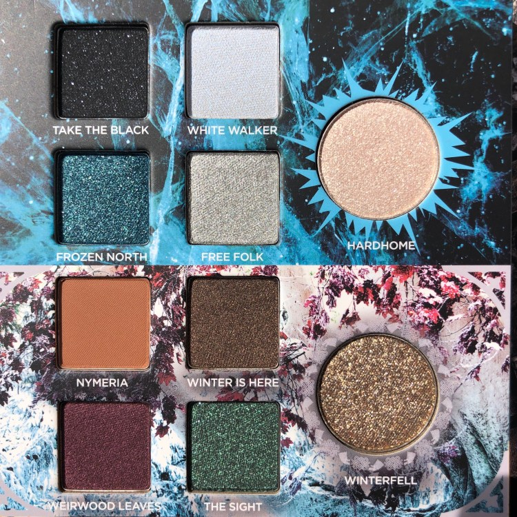 Night's Watch and House Stark Eyeshadows | Urban Decay Game of Thrones