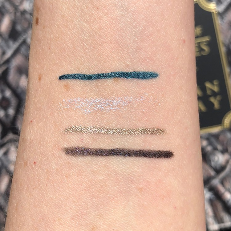 24/7 Glide-On Eye Pencil Swatches | Urban Decay Game of Thrones Vault