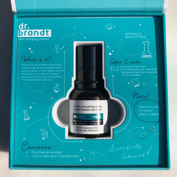 Gifted wrinkle cream from Dr. Brandt