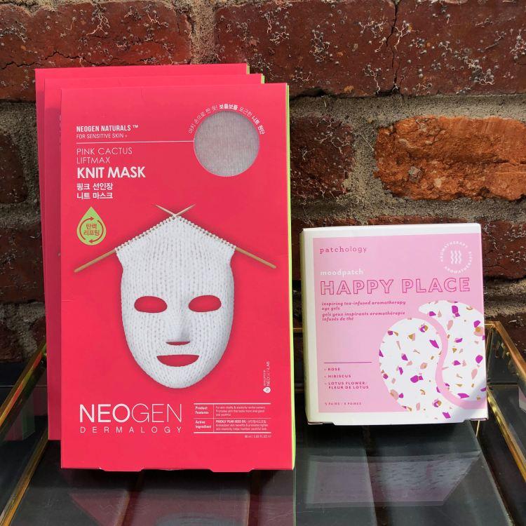 Neogen Knit Mask & Patchology Happy Place Eye Masks
