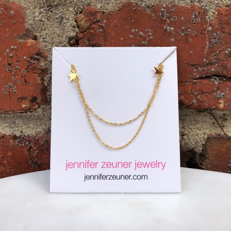 Jennifer Zeuner Jewelry Star Double Necklace | FabFitFun
