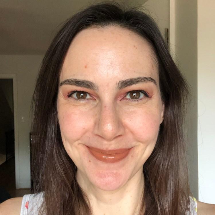 Atomic Makeup CBD-Enhanced Lip Gloss in Foxy and Cream Eyeshadow in Sundae Girl