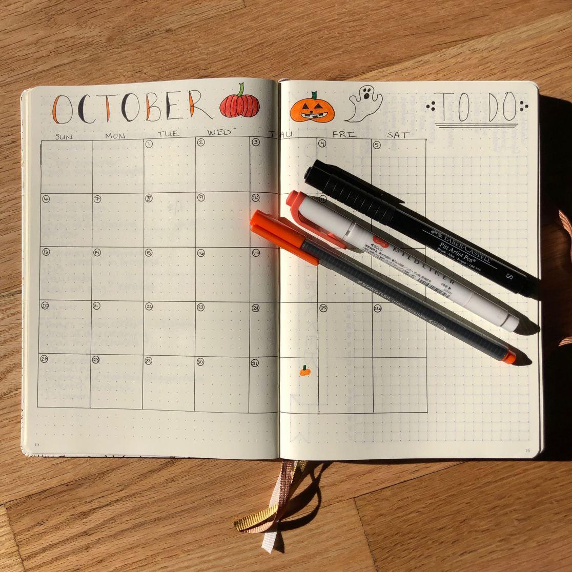 October Bullet Journal