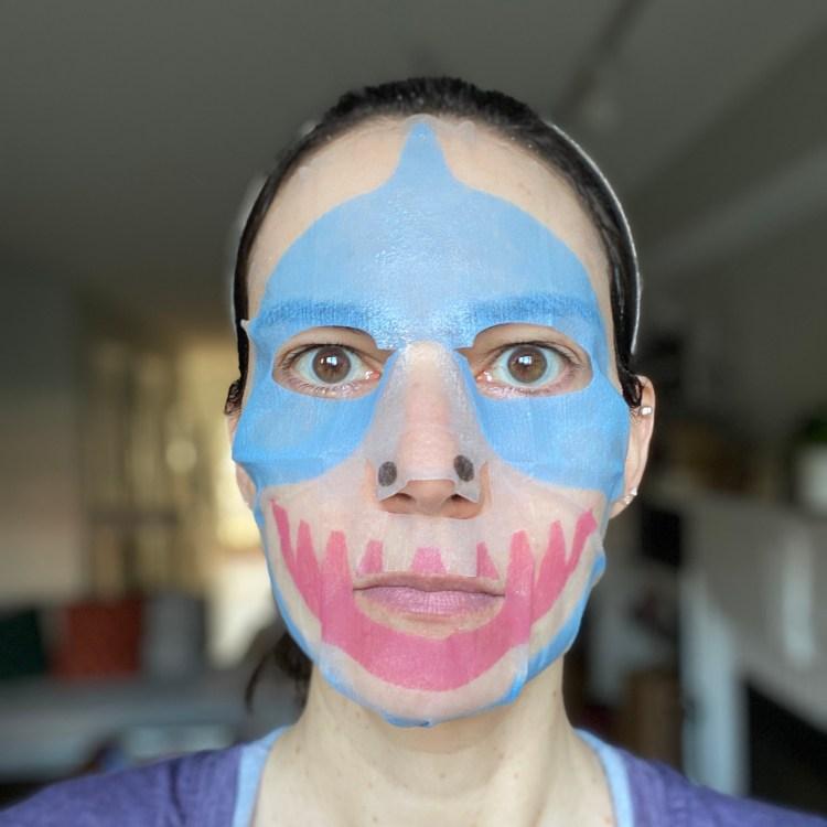 Shark sheet mask