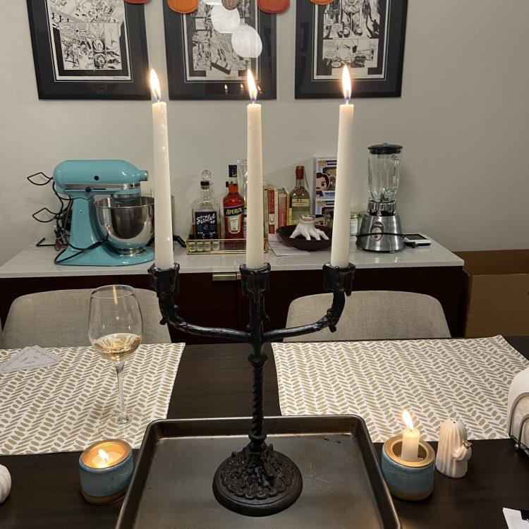 John Derian Halloween candelabra