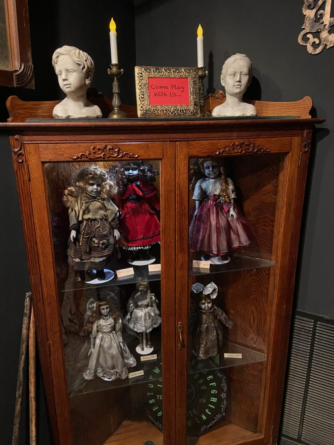 Creepy dolls at the Cloak and Wand