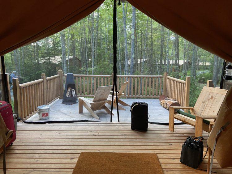 Bayberry tent inside & outside decks