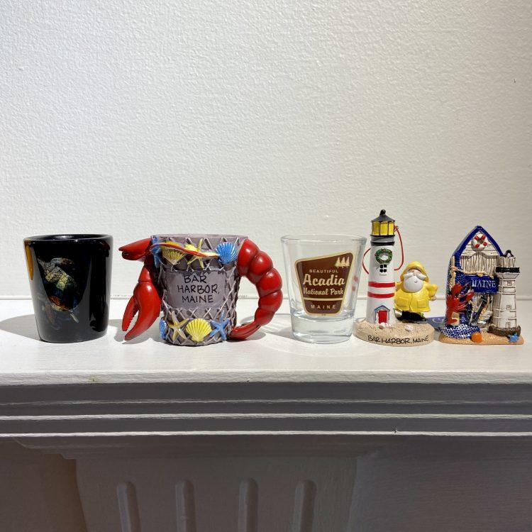 Vacation shot glasses, ornament, magnet