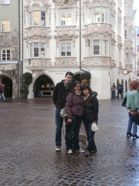 T, Mom, and I in Innsbruck