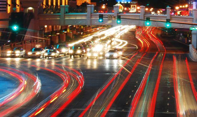 Nighttime Traffic Photography (in Vegas)