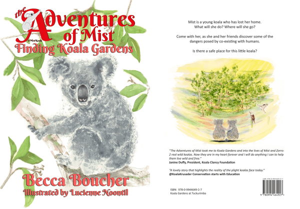Front and back cover of Finding Koala Gardens - Adventures of Mist Book 1