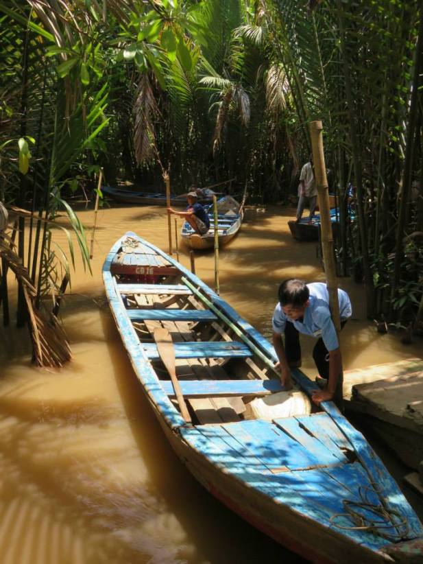 Sailing down the Mekong Delta
