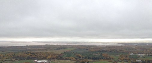 View from look off over the Valley to Minas Basin.