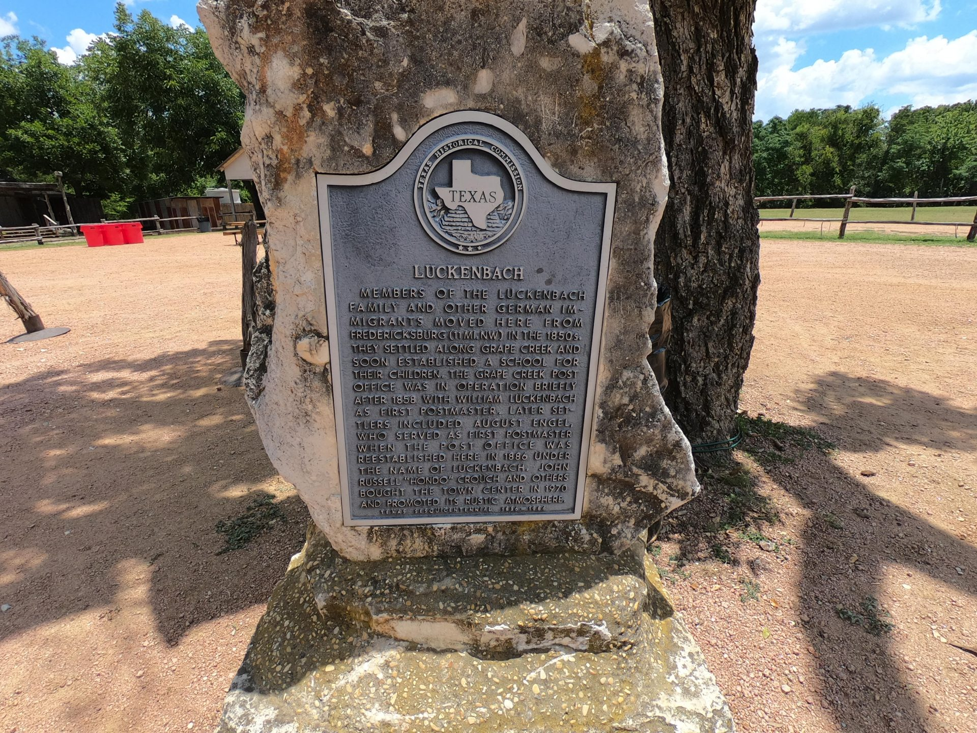 Luckenbach front plaque