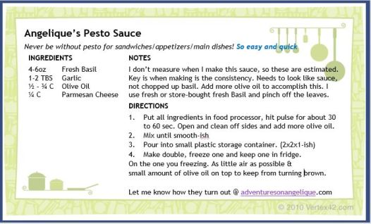 pic of pesto sauce